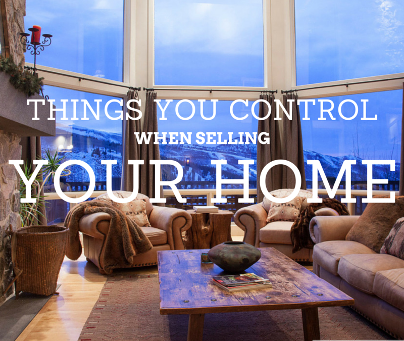 Things you can control when selling a home