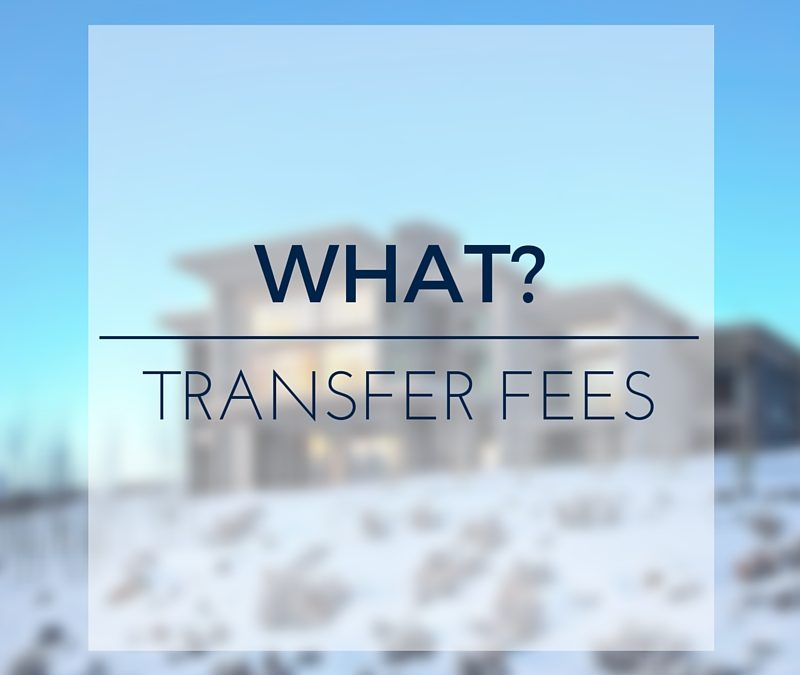 What? There's a conservancy or HOA transfer fee
